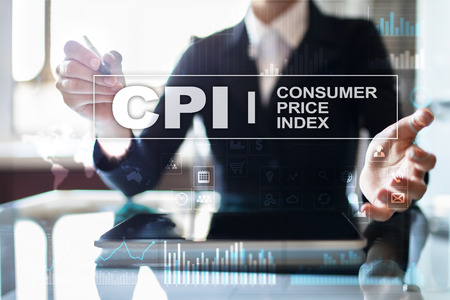 CPI. Consumer price index concept on virtual screen. Stock fotó - 89529766