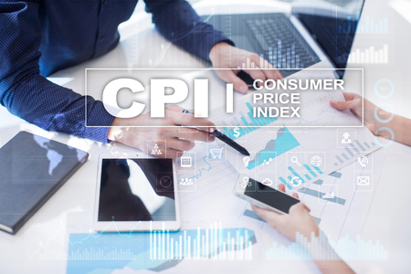 CPI. Consumer price index concept on virtual screen. Stock fotó - 89530189