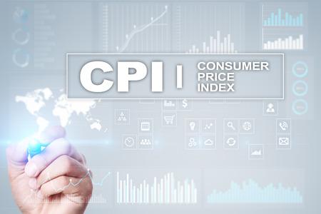 CPI. Consumer price index concept on virtual screen. Stock fotó - 89530144