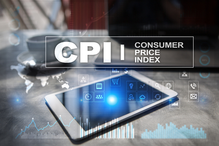 CPI. Consumer price index concept on virtual screen. Stock fotó - 89530081