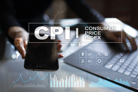 CPI. Consumer price index concept on virtual screen. Stock fotó - 89530086
