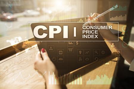 CPI. Consumer price index concept on virtual screen. Stock fotó - 89530088