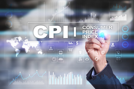 CPI. Consumer price index concept on virtual screen. Stock fotó - 89530020