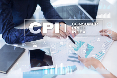 CPI. Consumer price index concept on virtual screen. Stock fotó - 89529915