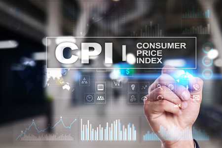CPI. Consumer price index concept on virtual screen. Stock fotó - 89529809