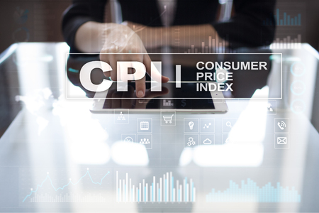 CPI. Consumer price index concept on virtual screen. Stock fotó - 89529724