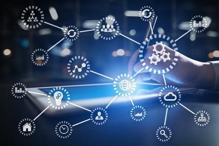 IOT Internet de las Cosas. Concepto de automatización y tecnología moderna. Foto de archivo - 90190069