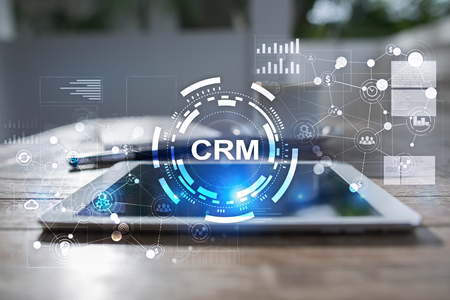 CRM. Customer Relationship Management concept. Klantenservice en relatie. Stockfoto