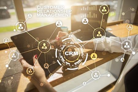 CRM. Customer relationship management concept. Customer service and relationship. Standard-Bild