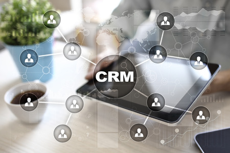 CRM. Customer relationship management concept. Customer service and relationship. Stock Photo