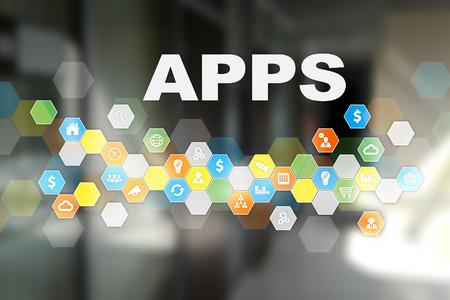 Apps development concept. Business and internet technology concept.