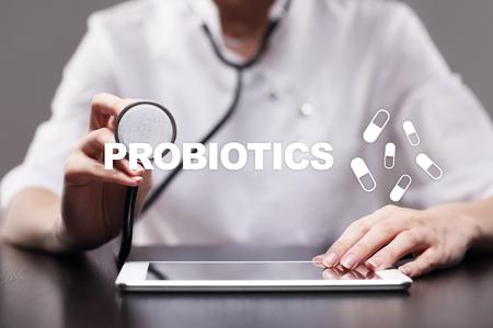 Probiotics. Health improvement. Medication and medicine concept.
