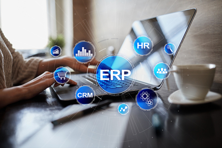 Enterprise resources planning business and technology concept. Stockfoto