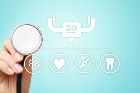 3d printing in modern medical technology. Bioprinting, prosthetics.