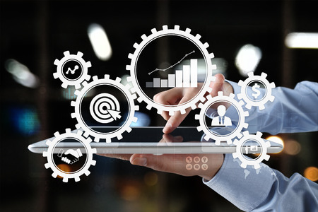 Business process concept on the virtual screen. Stockfoto