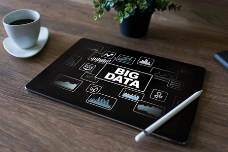 BIG DATA standard methods and tools complex to manipulate or interrogate. Internet and technology concept. Stock Photo - 108081082