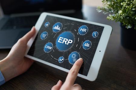Enterprise resources planning business and technology concept. Reklamní fotografie