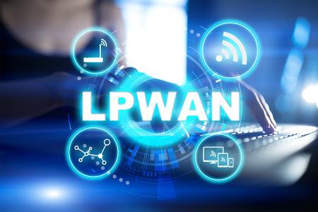 LPWAN - Low Power Wide Area Network, modern technology, telecommunication and internet concept. Stock fotó