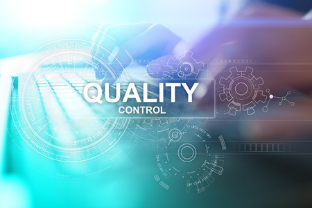 Quality control check box. Guarantee Assurance. Standards, ISO. Business and technology concept. Stok Fotoğraf