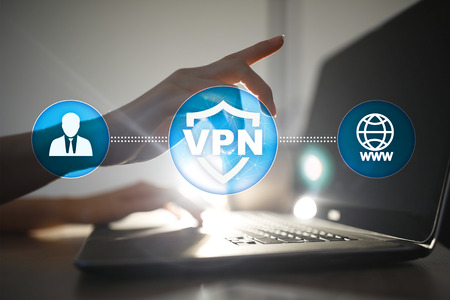 Protocole de réseau privé virtuel VPN. Technologie de connexion de cybersécurité et de confidentialité. Internet anonyme. Banque d'images