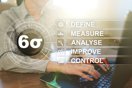 Six sigma - set of techniques and tools for process improvement. Stock Photo
