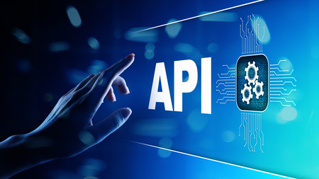 API - Application Programming Interface, software development tool, information technology and business concept. Stok Fotoğraf