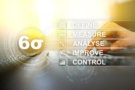 Six sigma - set of techniques and tools for process improvement. Banco de Imagens