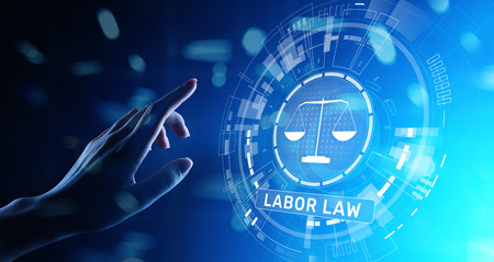 Labor Law Lawyer Legal Business Consulting concept. Stock Photo