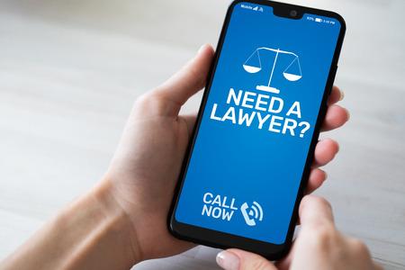 Hai bisogno di un avvocato Avvocato di consulenza legale.