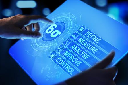 Six Sigma, Lean manufacturing, contrôle qualité et concept d'amélioration des processus industriels.
