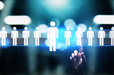 Human Resources, HR management, Recruitment, Talent Wanted, Employment Business Concept. Stok Fotoğraf