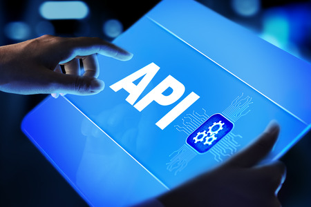 API - Application Programming Interface, software development tool, information technology and business concept. Фото со стока - 119977665