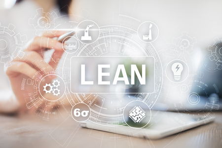 Lean manufacturing. Quality and standardization. Business process improvement. Stock Photo