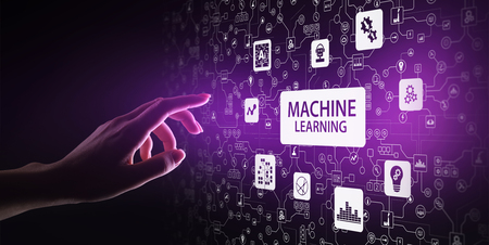 Machine Deep learning algorithms, Artificial intelligence, AI, Automation and modern technology in business as concept.