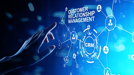 CRM - Customer relationship management automation system software. Business and technology concept. Фото со стока - 120790009