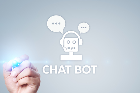 Chat bot, Ai, Artificial intelligence and automation technology in service and support. Business innovation. Stock fotó