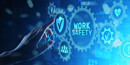 Work safety instruction standards law insurance industrial technology and regulation concept. 写真素材 - 122080140