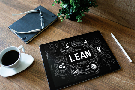 Lean manufacturing. Six sigma technology and business concept. Reklamní fotografie