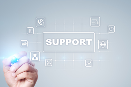 Technical Support and Customer Service. Business and Technology concept