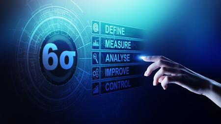 Six Sigma, Lean manufacturing, control de calidad y concepto de mejora de procesos industriales.