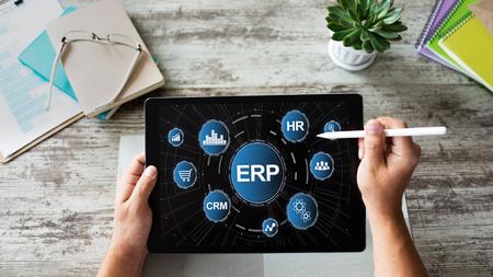 ERP-System. Unternehmensressourcenplanung. Automatisierung von Geschäftsprozessen.