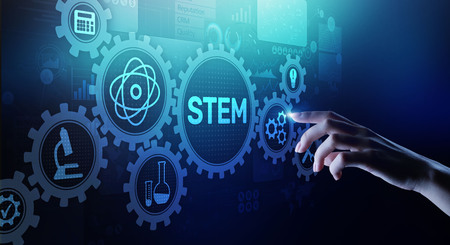 STEM science, technology, engineering, and mathematics as educational category.
