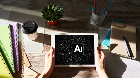 AI - Artificial intelligence, Internet, IOT and automation concept.