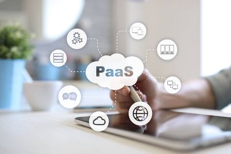PaaS, Platform as a Service. Internet and networking concept. Stock Photo