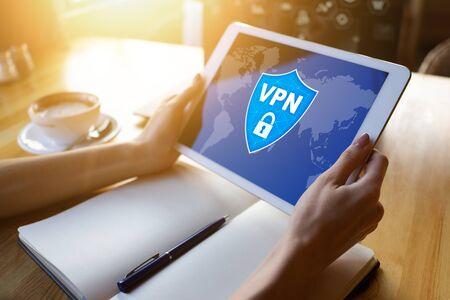 VPN - Virtual perivate network. Internet conncetion privacy concept. 版權商用圖片