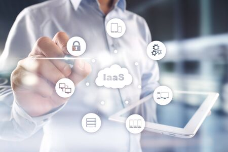 IaaS, Infrastructure as a Service. Internet and networking concept. Stock Photo