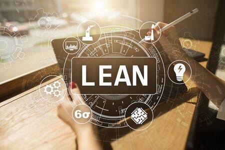 Lean Manufacturing. Qualität und Standardisierung. Verbesserung von Geschäftsprozessen.
