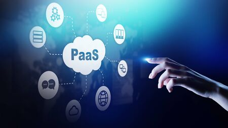 PaaS - Piattaforma come servizio, tecnologia Internet e concetto di sviluppo.
