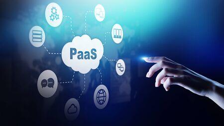 PaaS: plataforma como servicio, tecnología de Internet y concepto de desarrollo.