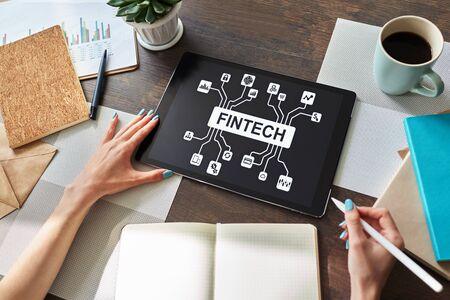 FIntech - Financial technology, internet payment and digital money concept. Imagens